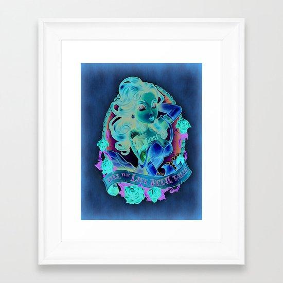Till The Last Petal Falls Framed Art Print