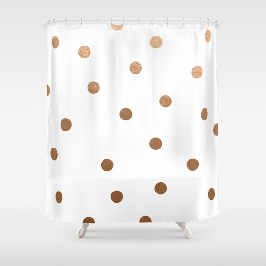 Fancy Curtains And Drapes Navy Dot Shower Curtain