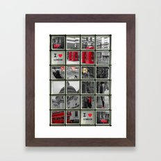 I love London Collage Framed Art Print