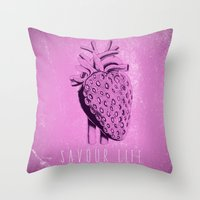 Savour Life ! Throw Pillow