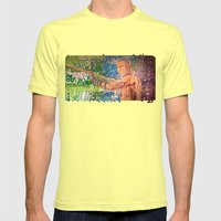 Stop Biting 3 Mens Fitted Tee Lemon SMALL