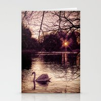 Stationery Card featuring Swan Lake by Becky Dix