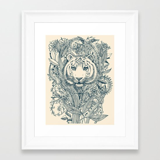 Tiger Tangle Framed Art Print