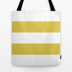 MUSTARD & WHITE STRIPE Tote Bag