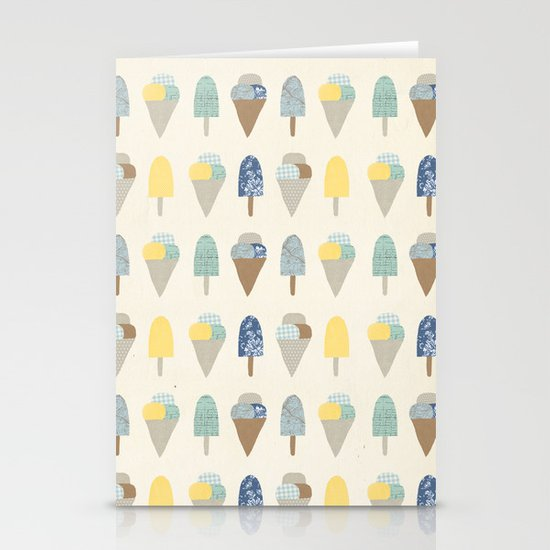 ice cream pattern  Stationery Card