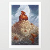 Lay More, Squawk Less Art Print
