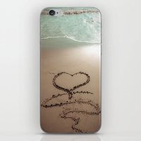 Beach Heart Sand Writing iPhone & iPod Skin