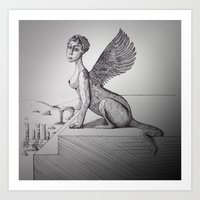 My-thology, The Sphinx Art Print
