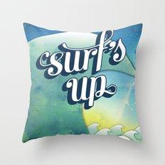 Surf's Up Throw Pillow