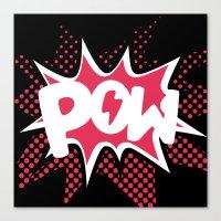 POW! Canvas Print