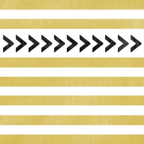 ARROW STRIPE {MUSTARD} Canvas Print