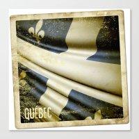 Quebec (Canada) Grunge S… Canvas Print