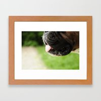 Dog Mouth Framed Art Print