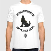 Howlin' For You Print Mens Fitted Tee White SMALL