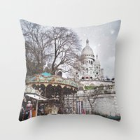 Paris, Montmartre Throw Pillow