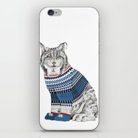 Christmas Lynx // Festiv… iPhone & iPod Skin