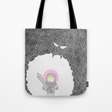 Strong Warrior (Breast Cancer Version) Tote Bag