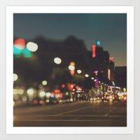 Hollywood Boulevard. Los Angeles Art Print