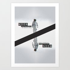A MOVIE POSTER A DAY: MOON. Art Print