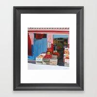 Moroccan Market Framed Art Print