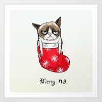 Grumpy Christmas Art Print