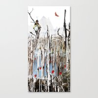 child in the tree Canvas Print