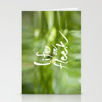 Life on Fleek - Spider Web in Woods Stationery Cards