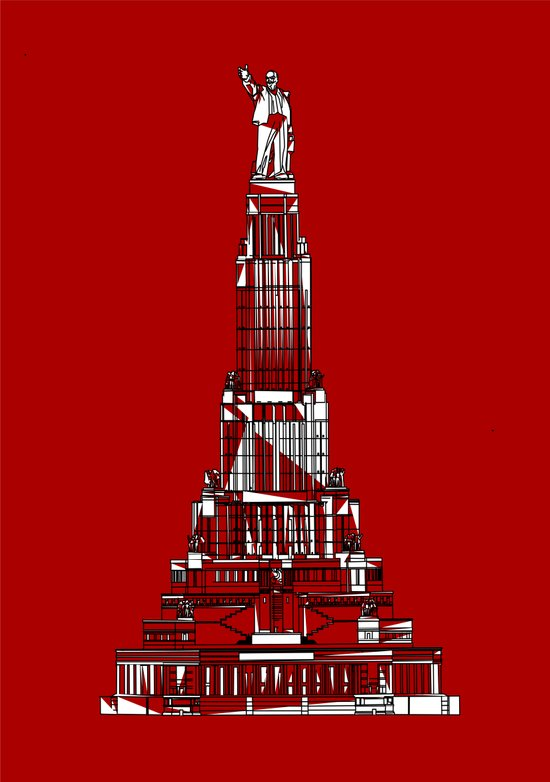 Palace of the Soviets for the 2013 Soyuz Symposium Art Print