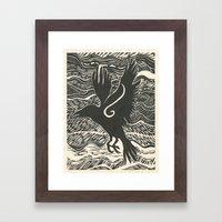 Crow Winds Framed Art Print