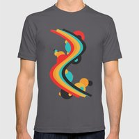 Summer Boom Mens Fitted Tee Asphalt SMALL