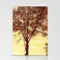 Sunny Tree Stationery Cards