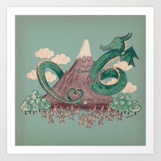 The Not-So-Lonely Mountain Art Print