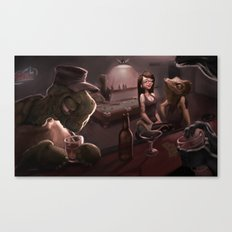 Down at the Dive Canvas Print