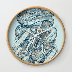Life & Love at Sea Wall Clock