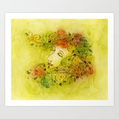 Autumn Nymph Art Print