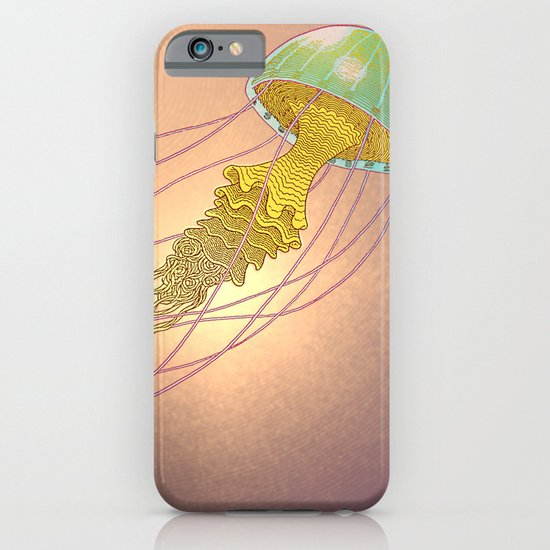jellyfish-red iPhone & iPod Case
