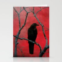 Stationery Card featuring The Color Red by The Strange Days Of Gothicolors