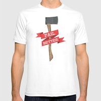 Fail Better Axe Mens Fitted Tee White SMALL