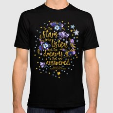 A Court of Mist and Fury - To The Stars SMALL Black Mens Fitted Tee
