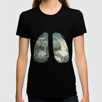 Lungs Womens Fitted Tee Black SMALL