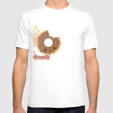 Sweet Doughnuts White Mens Fitted Tee SMALL