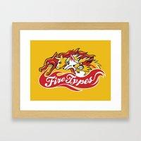 Team Fire Types Framed Art Print