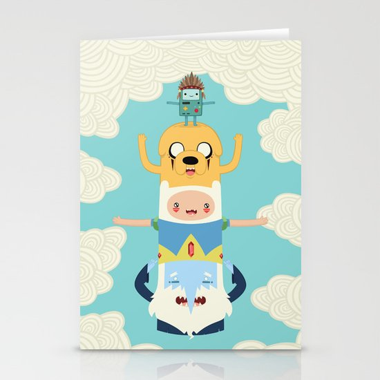 Adventure Totem Stationery Card