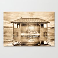 Shelter In The Floods  Canvas Print