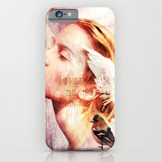 I will sing under the shadow of Your wings iPhone & iPod Case