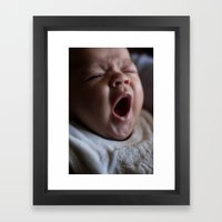Baby face Framed Art Print