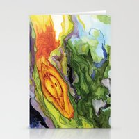 Serpent Seed Twin Birthing Fire Moss Stationery Cards
