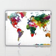 Watercolor World Map #3 Laptop & iPad Skin