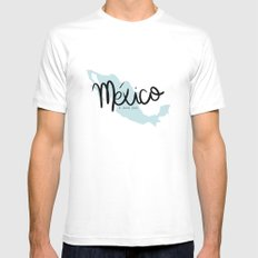 mexico i love you SMALL White Mens Fitted Tee