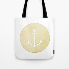 Anchor in Yellow Tote Bag
